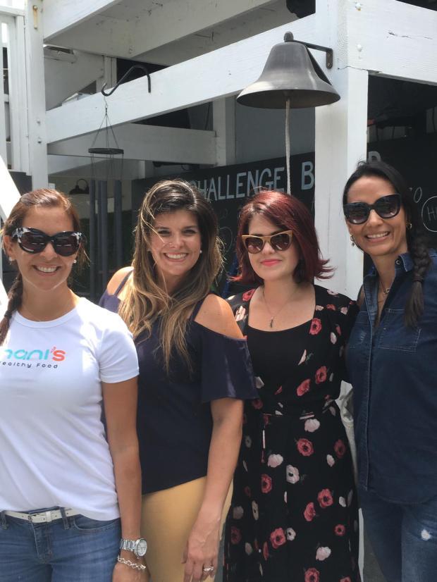 Nanis Healthy Food, Happyrunhappymom, mamitasinculpa, Fabiola Granola and South Florida Mom Bloggers at Camp Lingua