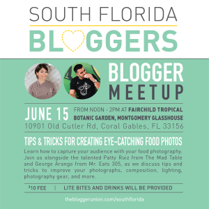 June South Florida Blogger Meetup