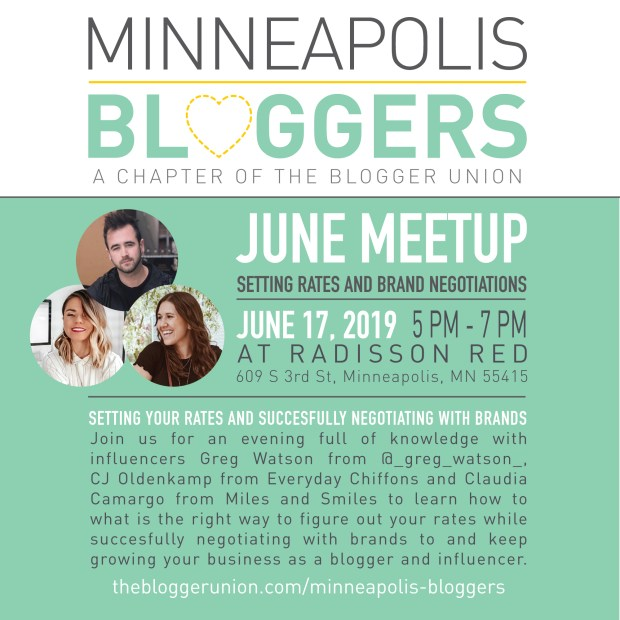 June Minneapolis Bloggers MeetUp - The Blogger UnionThe