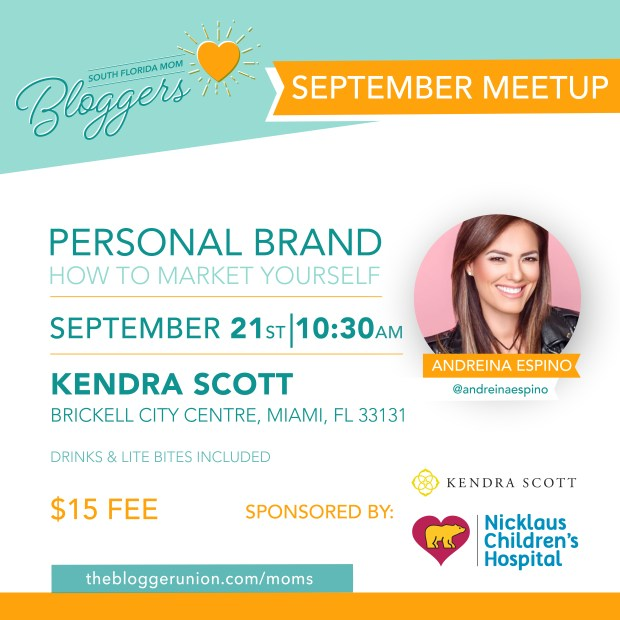 South Florida Mom Bloggers September Meetup Flyer