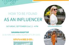 September NYC Blogger Meetup Flyer