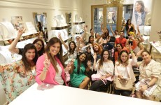 South Florida Mom Bloggers Group Photo at Kendra Scott Brickell City Centre