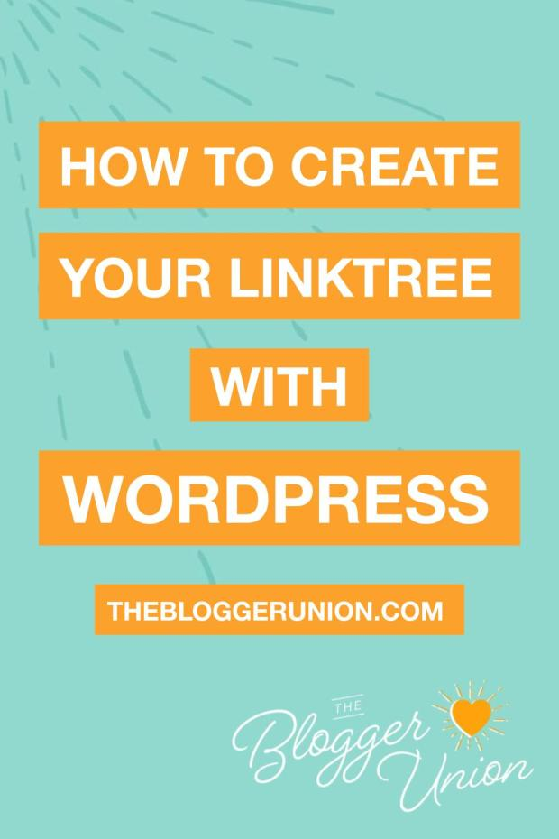 How to create a linktree with WordPress: instagram landing page