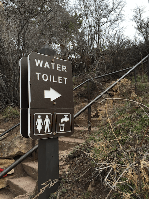 """WATER TOILET."" You're giving mixed messages here, Grand Canyon."