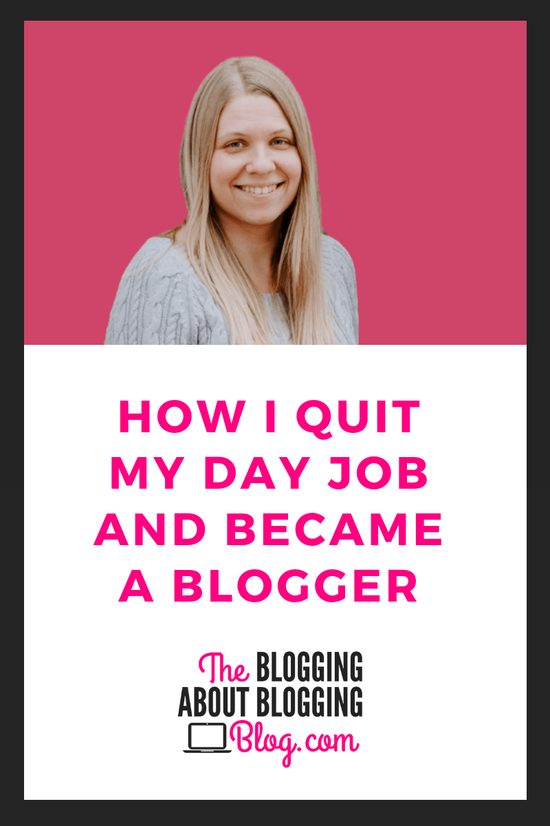 How a former teacher became a full time blogger.