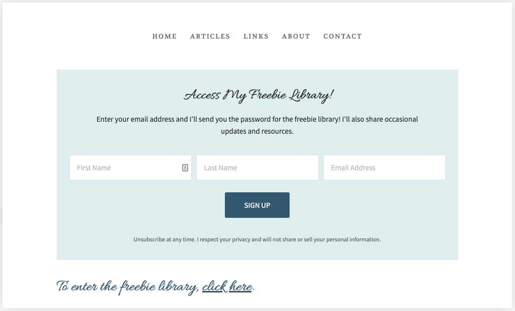 Squarespace Freebie Library