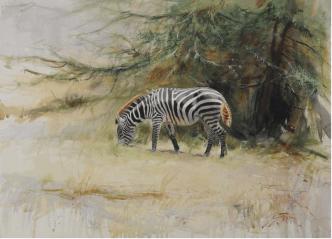 Middagshetta / Akvarell / 56 x76 cm Galleri Vättern Motala