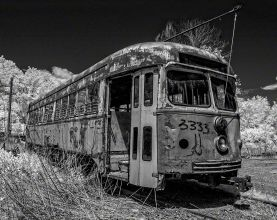 Trolley 3333 – Infrared, Central Connecticut ©2014 Robert Marsala