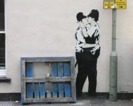 ∫ Banksy Kissing Cops (Courtesty Northern Lights MN)
