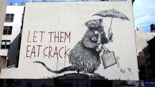 ∫ Banksy Let Them Eat Crack (Courtesty Northern Lights MN)