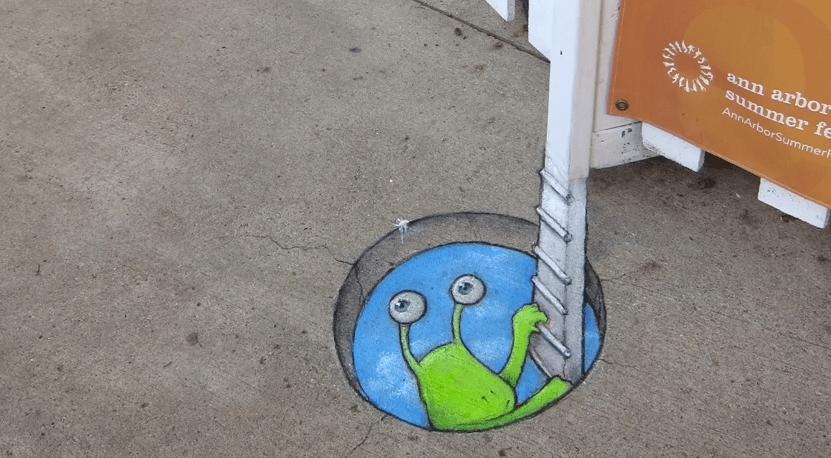 ∫ David Zinn Street Art