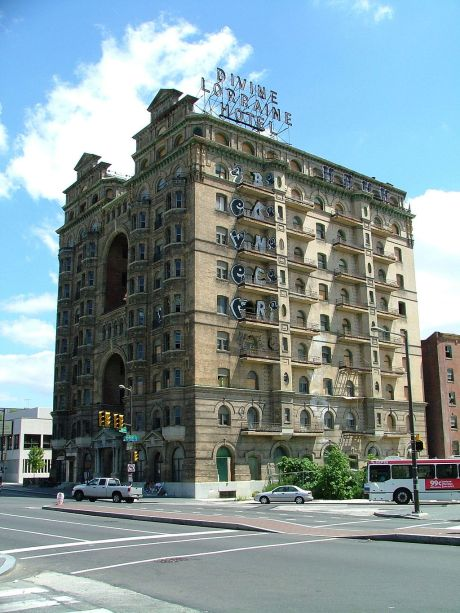 Rev Major J. Divine, civil rights leader of the 1930's, built in 1894 and acquired in 1948, it was one of the first integrated hotels in America.