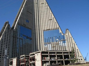 Orascom's Khaled Bichara announced the Ryugyong will be more than just a hotel. The development will include revolving restaurants, apartments and different types of hotel accommodation as well as business and corporate facilities. The building was completed in 2013. Courtesy Sobify