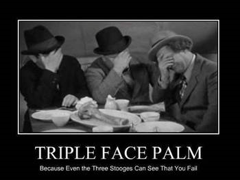 stooges face palm