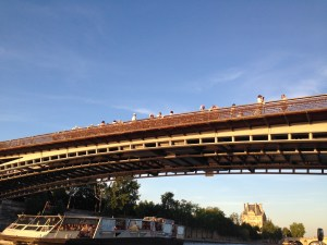 Cruising up the Seine River, I am somehow not in the photo.