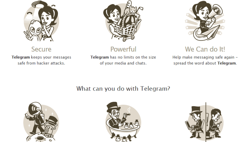 What can you do with telegram