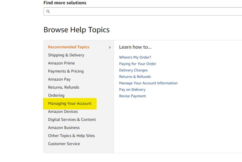 Manage Amazon Account