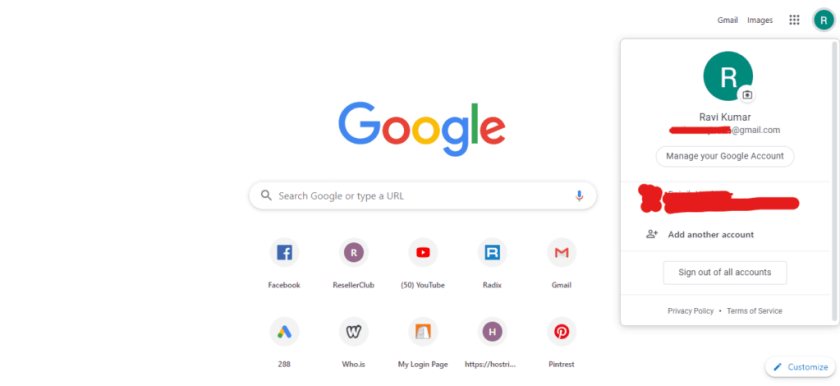manage your google account