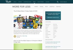 Top Black Friday Blogs - Brads Deals