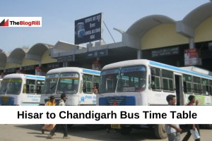 Hisar to Chandigarh Bus Time Table