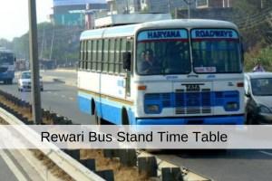 Rewari Bus Stand Time Table