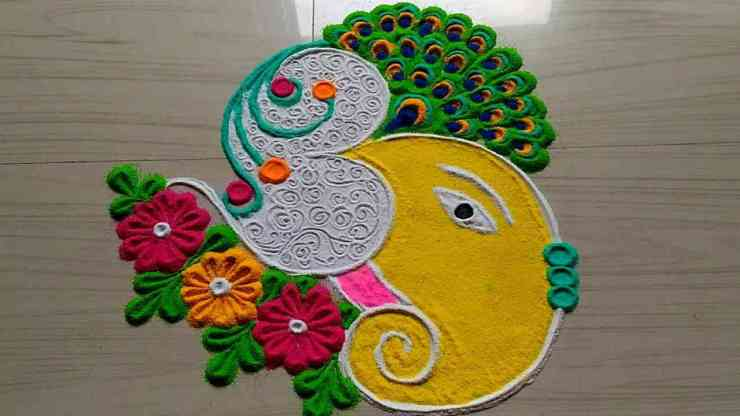 Happy New Year Best Rangoli 62
