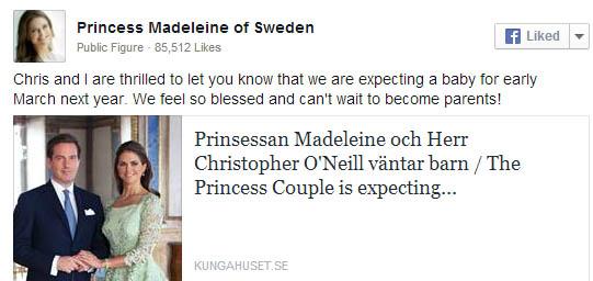 Princess Madeleine + Chris ONeill Announcement 9.3