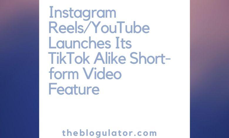 Instagram Reels/YouTube Shorts TikTok Rival