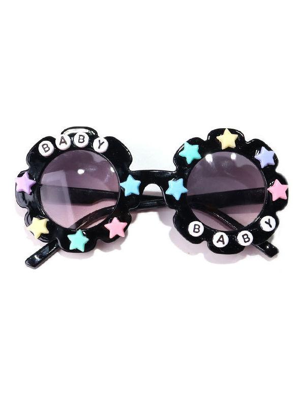 Kid Letter Decor Flower Frame Sunglasses