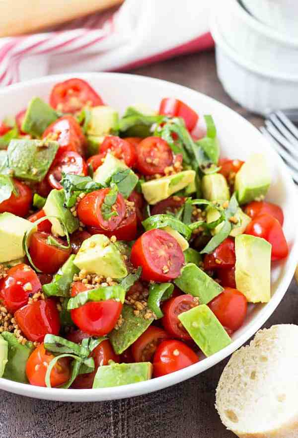 Tomato Avocado and Basil Salad The Blond Cook