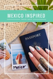 mexico-inspired travel nails