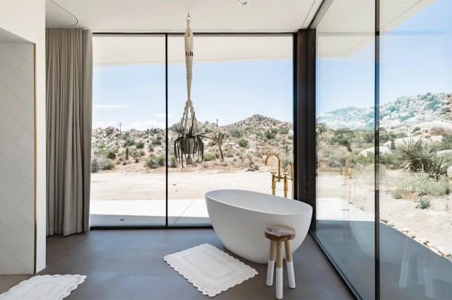 glass house modern airbnb joshua tree