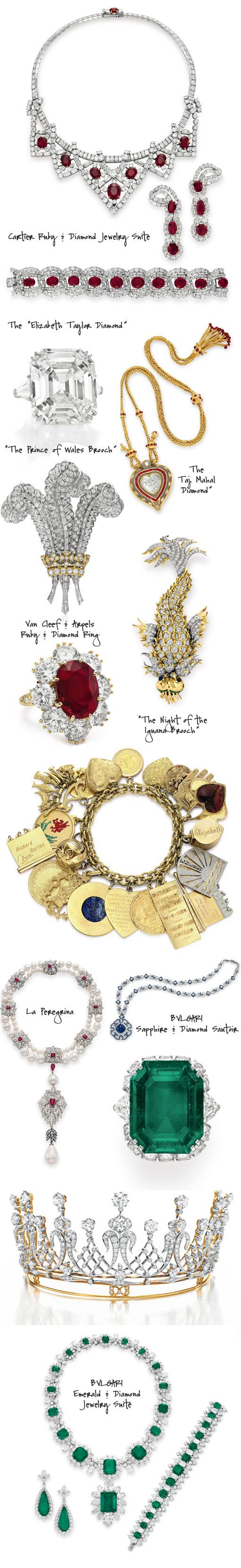 Elizabeth Taylor Jewelry Auction : elizabeth, taylor, jewelry, auction, Hollywood, Royalty:The, Elizabeth, Taylor, Jewelry, Collection, Exhibit, Auction