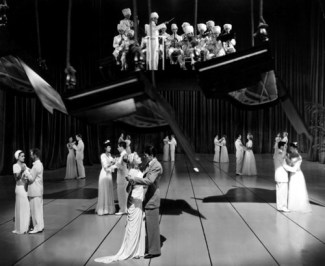 "a ""ballroom"" sequence that was cut from the dream via: http://www.hitchcockwiki.com/wiki/Hitchcock_Gallery:_image_5187"