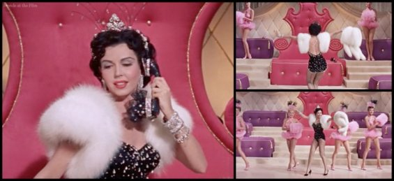 Ann Miller in sparkly seamed stockings in Hit the Deck (1955)