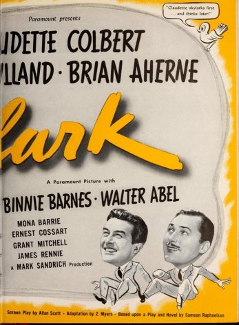 Skylark: Claudette Colbert, Brian Aherne, and Ray Milland