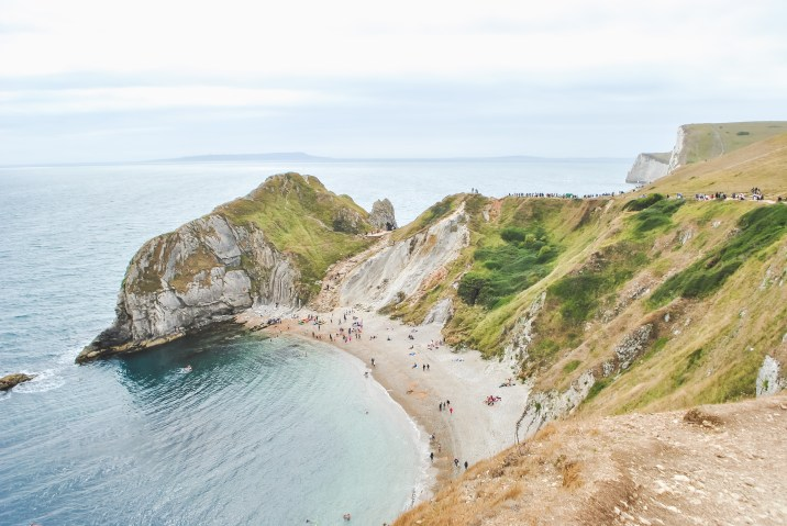 Dorset Jurassic Coast coastline with beach and shore