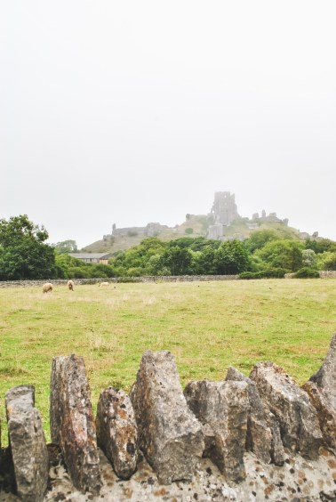 Corfe Castle English countryside village Jurassic Coast Dorset