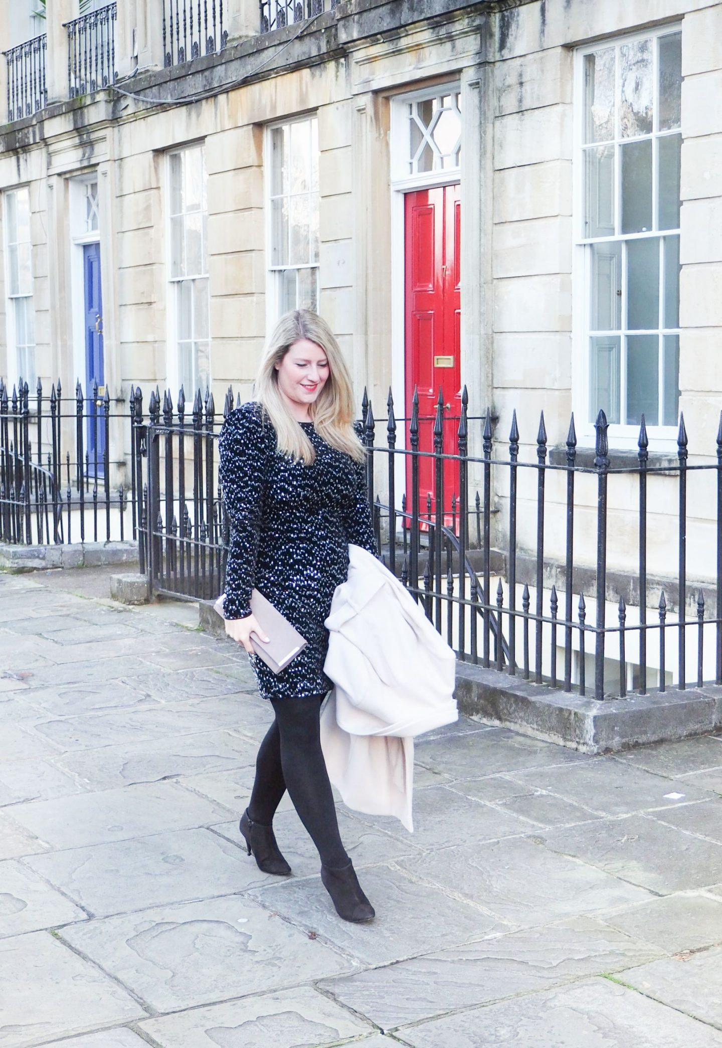 Debenhams sequin dress and coat