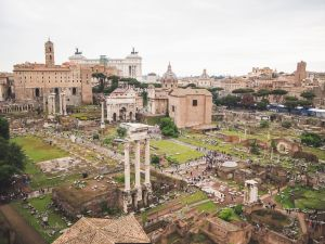 The Roman forum remains in Rome