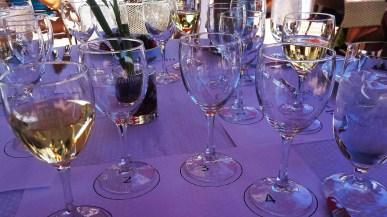 1st glass chardonnay poured for tasting