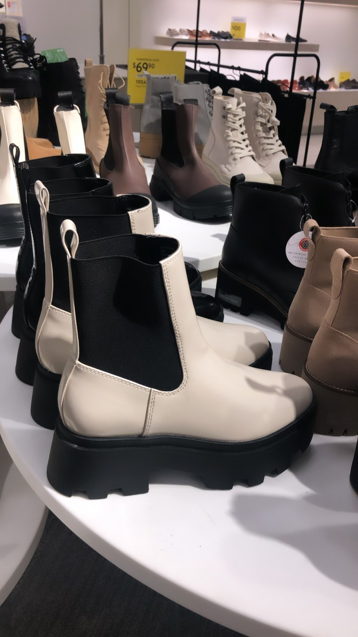 photo of white boots at the nordstrom anniversary sale