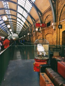 Boarding the Hogwarts Express.