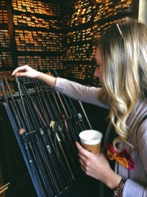 Picking out my wand.