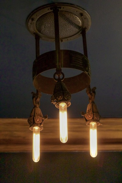 This light fixture is original from 1913!