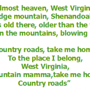 country road song the