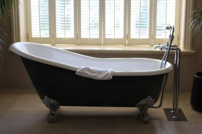 The bathtub in the honeymoon suite.