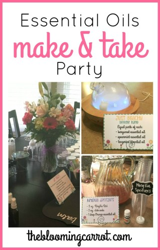 Summer Essential Oils Make & Take Party | The Blooming Carrot