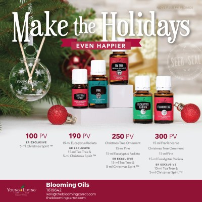 Young Living November 2017 US Promo Goodies | The Blooming Carrot