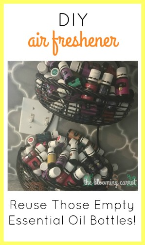 DIY Air Freshener with Essential Oil Bottles | The Blooming Carrot